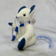 "Meece Amis Artist Mouse by Tabbyclouds ""Blanchflower"" OOAK Collector Teddy"