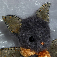 "OOAK A Ballad Bat by Tabbyclouds Artist Bears ""Toast"" (Collector Teddy)"