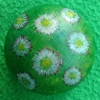 Daisy Meadow - painted wooden knob