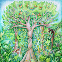 Greeting card - The Singing Tree