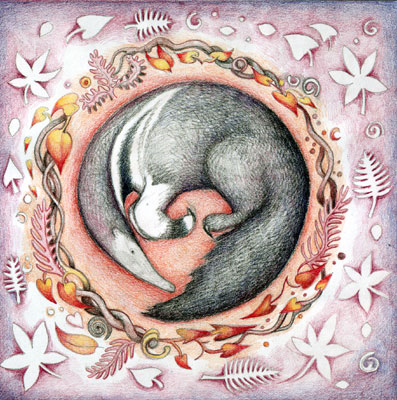 Greetings card - Anteater Dreaming
