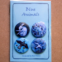 Badges - Blue Animals