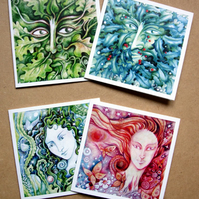 Greetings cards - Spirits of Nature set