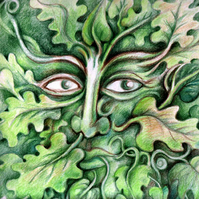 Greetings Card - Green Man