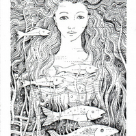 River Goddess - Original Illustration