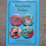 Badges - Rainforest Animals