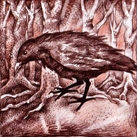 Greetings Card - Crow