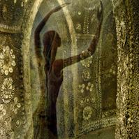 Greetings Card - Dancer in the Grotto