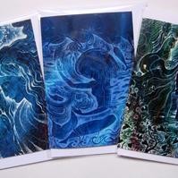 Water Goddess Greetings Card Set