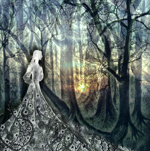 The Lady of the Woods - Greetings Card