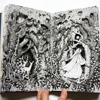 Through the Forest - Altered Book