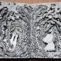 Through the Forest  Altered Book