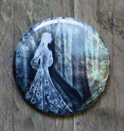 Lady of the Woods Pocket Mirror