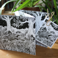 The Badger Sett - a double-sided concertina greetings card