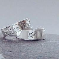 Sterling silver adjustable toe ring. Free UK delivery