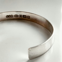 Sterling silver cuff bangle. FREE UK P&P!