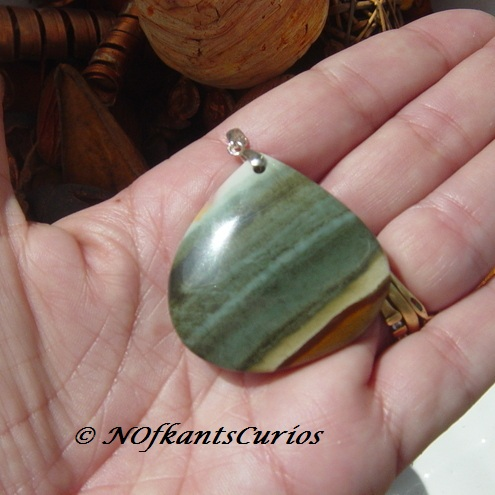 Succor Creek Jasper and Sterling Silver Pendant