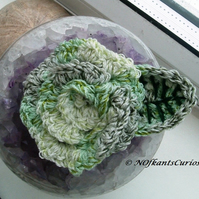 Green Crocheted Rose!  Fresh Spring Green Ladies Corsage!