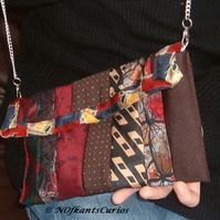 Tied to my Handbag!  Clutch Bag with Removable Strap, from Gent's Ties.