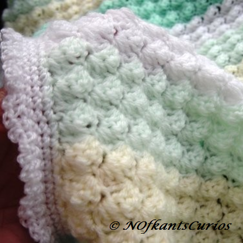 Vanilla & Mint Hand Crocheted Baby Pram, or Cot Blanket.