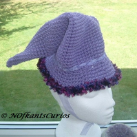 Lilac Witchy Woo!  Crocheted Fantasy Child's Hat.