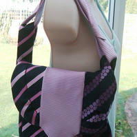 Tied to Spots & Stripes!  Handbag made from Gent's Neck Ties.