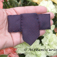 Two Tone Tied to my Lapel!  Brooch created from a Gent's Neck Tie.