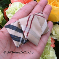 Tied to my Lapel!  Pretty Brooch made from Gent's Neck Tie.