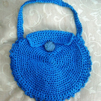 Round Shield, 1960 70's inspired Hand Crocheted Handbag.