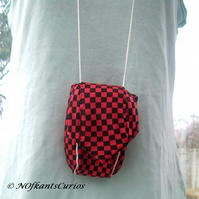 Tied to Checks!  Pink and Black Gadget or Mobile Phone Case made from Neck Tie!