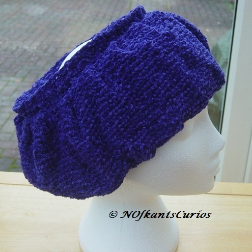 African Violet Elizabethan Inspired Neck Ruff or Headband in Chenille Yarn