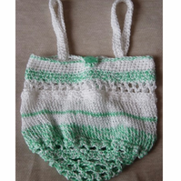 Mini Eco Shopper! Hand Crocheted & Knitted Handbag.