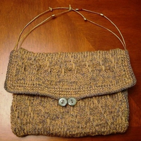 Wool & Cashmere Combo. Hand Knitted & Crocheted Handbag