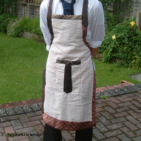 Tied & Applied Apron!  Full Cotton Apron with Gent's Neck Ties!