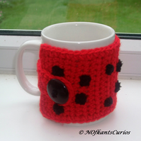 Ladybird Crocheted Mug Cosy!  Give your mug a hug!