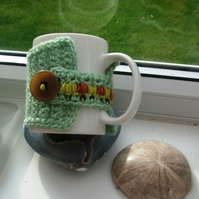 Caterpillar Crocheted & Embroidered Mug Cosy!  Give your Mug a Hug!