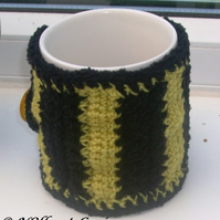 Bumble Bee Crocheted Mug Cosy!  Give Your Mug a Hug!