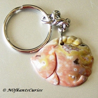 Angel Fish, Ocean Jasper Keyring or Handbag Charm