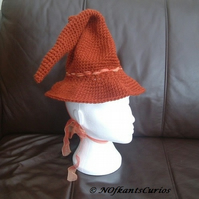 Witchy Wizardy Woo!  Hand Crocheted Child's Fantasy Hat!