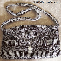 Humbug Inspired Hand Knitted & Crocheted Handbag.