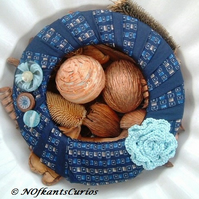 Tied to Aqua Rose Wreath!  Unique Decorative Floral, Button & Neck Tie Wreath!