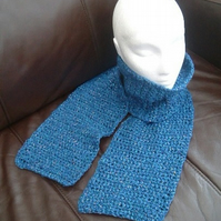 Teal Sparkle Scarf!  Crocheted Scarf with Sparkle detail.