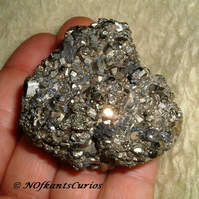 Fool's Gold!  Iron Pyrite Specimen for Display or Crafting Project!