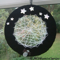 Spider Web at Night hanging decoration or wreath!