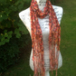 Russet Lacy Fringe Hand Knitted Scarf.