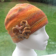 Tropical Floral Rainbow crocheted Beanie or Slouchy Hat!
