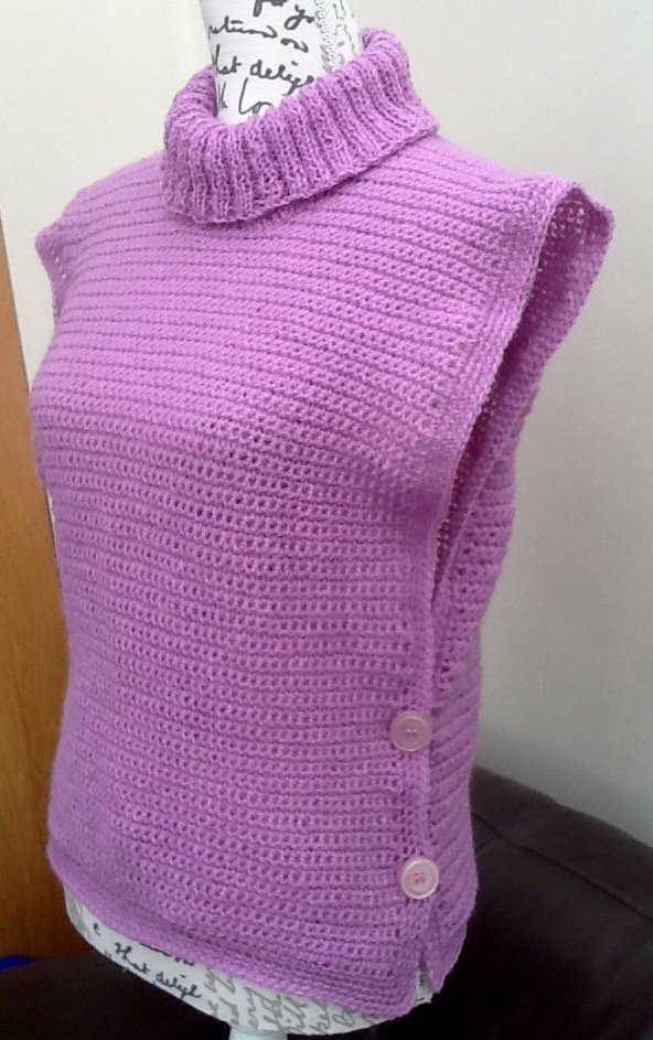 Lilac Polo Poncho! Crocheted & Knitted Ladies Pocho, Denys Brunton Designer Yarn