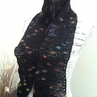 Picasso Crocheted multi-tonal Scarf for either a Lady or a Gent.