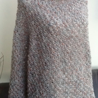 Monte Carlo Ladies Lacy Crocheted Polo Poncho in Designer Yarn!