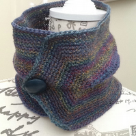Muted Rainbow Denys Brunton Designer Yarn Neck Cosy or Cowl.